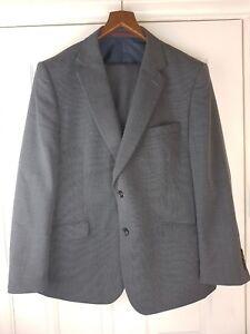 """M&S Men's Grey Regular Fit Wool Blend Suit Size UK 46"""" / 117 cm SHORT / EU 56"""