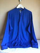 Vintage Womens Romeo Blue Long Sleeve Button Up Blouse USA Size Large
