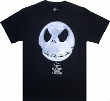 New Mens The Nightmare Before Christmas Jack SKELLINGTON Black T-Shirt Top Large