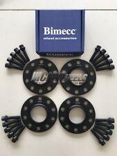 2x8mm + 2x12mm Black Wheel Spacers Black Bolts Seat Leon, Cupra, Cupra R, ST, FR