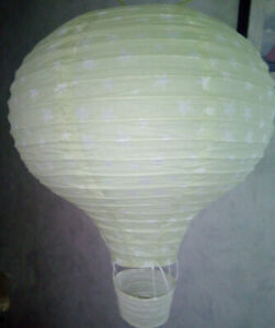 Ceiling Lampshade Lantern Light Cover Hot Air Balloon Theme in green