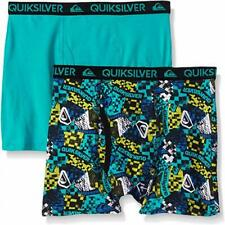 Quiksilver Boys Teal & Printed 2pk Boxer Briefs Size 4/5 6/7 $18
