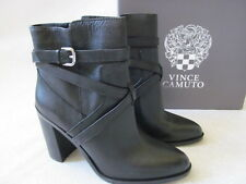 VINCE CAMUTO BLACK LEATHER BOOTS SIZE 9 1/2 M - NEW W BOX $149.90