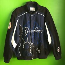 Vintage G-III Carl Banks NY Yankees Jacket Sz XL Cotton Statue Of Liberty Rare