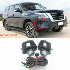 For Nissan PATROL AUS Models 2020+ LED Front Fog Lamp w/ Bulb Switch Cable Bezel