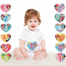 Disney Minnie Mouse Milestone Photo Prop Belly Stickers, Baby Girls, Age 0-12M
