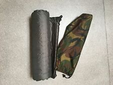 Dutch army full size self inflating roll mat with water proof bag green mtp
