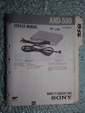 Sony and-500 service manual original repair book mobile tv diversity unit