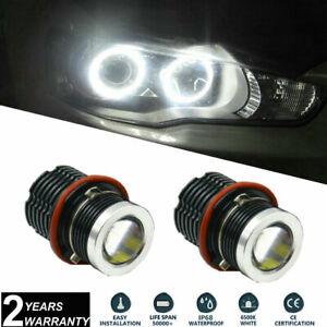 2x 80W LED Angel Eyes Halo Ring Bulbs Cree XBD 12LEDs For BMW E39 E60 X5 E53 E65