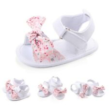 Baby Girl Summer Soft Sole Shoes Bowknot Sandals Toddler Infant Prewalkers 0-12M