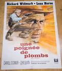 Affiche de cinéma : UNE POIGNÉE DE PLOMBS de DON SIEGEL