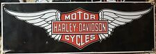 PORCELAIN HARLEY-DAVIDSON MOTOR CYCLES WINGS SIGN ANDY ROONEY MADE IN USA NEW