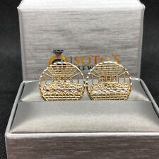 10K Gold Last Supper Earrings Round