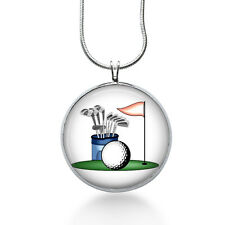 Golf Pendant Necklace, Sports Jewelry for Her, Summer, womens jewelry