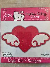 Sizzix Hello Kitty Bigz Die Cuts Heart with Wings Retired, RARE! 655794 NEW