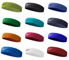 Nike Swoosh Headband NEW Tennis Squash Badminton Gym Sweat Bands Black Blue