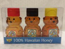 HAWAIIAN HONEY MACADAMIA NUT CHRISTMAS BERRY RAINBOW BLOSSOM 3 x 2 OZ BEAR SET