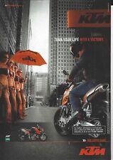an Original 2008 Magazine Advertisement for the KTM 990 Super Duke