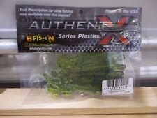 "B Fish N Authent X soft plastic 4"" Moxi Ring chartreuse pepper color NIP"