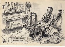 Carte postale CAMPAGNE vieux métiers le bourrelier
