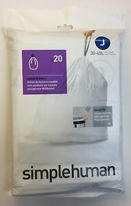 SimpleHuman Bin Liners (J 30-45L) 3 x 20