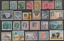 Rhodesia Area hi val selection 22 diff stamps cv $65