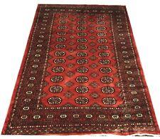 Bokhara Rug in Rust Terracotta Original Hand Knotted Oriental Wool Rug 121x180cm