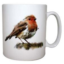 Hand Painted Watercolour Robin Mug