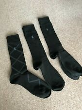 BNWT 3 Pack POLO RALPH LAUREN Men's Dress Socks Grey & Black 6-12
