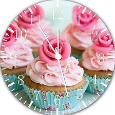 "Beautiful Cupcake wall Clock 10"" will be nice Gift and Room wall Decor E06"