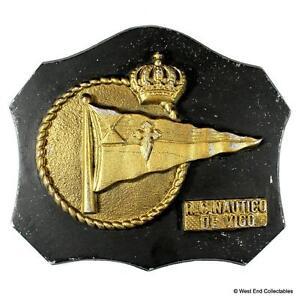 Real Club Nautico De Vigo RCNV - Armada Española Tampion Plaque Badge Crest
