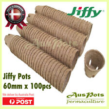 60mm Round Jiffy Pots x 100pcs - Propagation / Seedling / Herbs - International