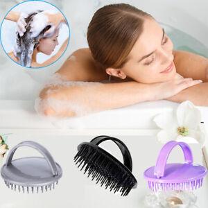 Head Scrubber Shampoo Brush Revitalize Scalp Massager with Soft Silicone Bristle