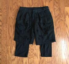 Drifter Destructed Black Double Layer Shorts, Men's Size Large Orig $249 Yeezy
