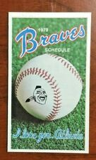 1979 BRAVES I Love You Atlanta MLB Baseball Pocket Schedule