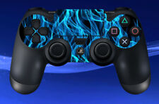 2 x PS4 PLAYSTATION BLUE FLAMES CONTROL PAD DECAL STICKERS