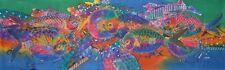 Long Abstract Fish Painting Batik Art. 5 Fish
