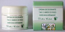 Dottor Colato Crema deodorante al timo e amido di riso 50 ml