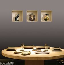 NEW 3 PCS GREEK EGYPTIAN WALL STICKER 3D ART PICTURE VINYL REMOVABLE HOME DECALS