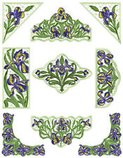 "ABC Designs Iris Lace - 7 standalone machine embroidery designs Set 5""x7"" hoop"