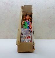 Vintage 1960's Mattel Skipper Barbie Doll Og Box Stand Shoes Outfit Booklet NIB