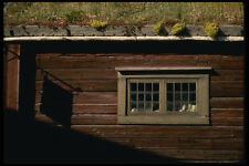 201056 XVIII secolo log FARM HOUSE CON TETTO aiuola Museo di Skansen A4 FOTO STAMPA