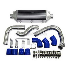 CXRacing Bolt On FM Intercooler Piping Kit  For 05-08 Audi A4 B7 2.0T Blue Hose
