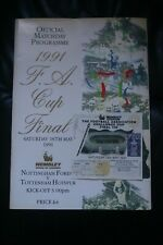 More details for nottingham forest v tottenham hotspur 1991 fa cup final programme and ticket