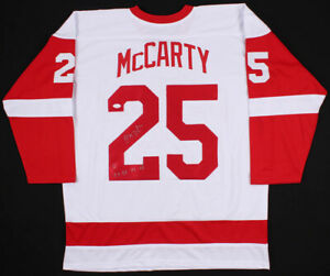 Darren McCarty Signed Autographed Red Hockey Jersey with JSA COA