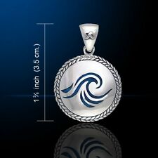 Wave Surf .925 Sterling Silver Pendant by Peter Stone