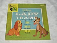 1965 Early Read Along Book & Record Walt Disney's Lady & the Tramp LLP307
