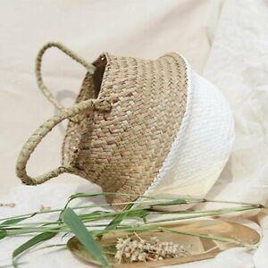Handmade Woven Hanging Basket - High Quality Seagrass Wicker flower Basket
