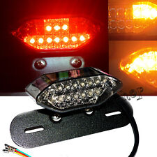 1pc Motorcycle LED Intergrated Turn Signals Tail Light License Plate Mount Frame
