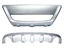 Spoiler sotto paraurti per Volvo XC60 dal 2008 set anteriore+posteriore argento